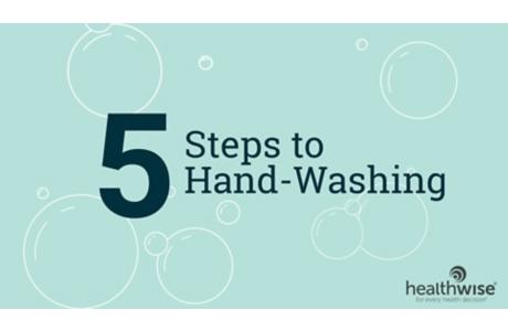 COVID-19: Cinco pasos para lavarse las manos
